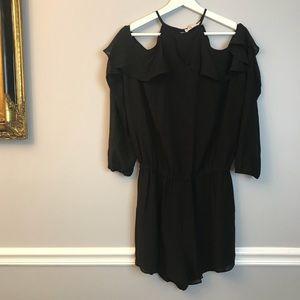 Michael Kors Black Cold Shoulder Romper